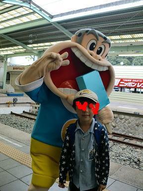 下田の駅でガリガリ君がお出迎え