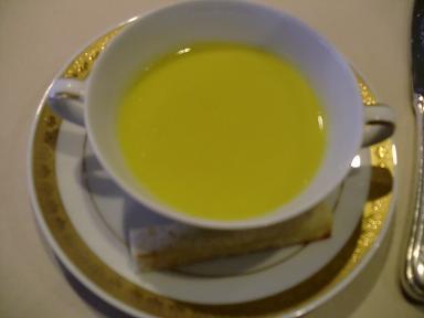 下田東急ホテルの夕食ディナー スープ