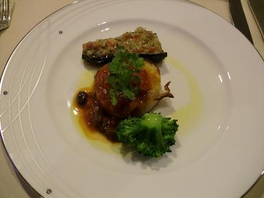 下田東急ホテルの夕食ディナー 魚料理