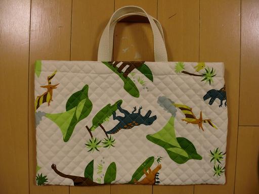小学校入学に当たり作ったもの 手提げ袋